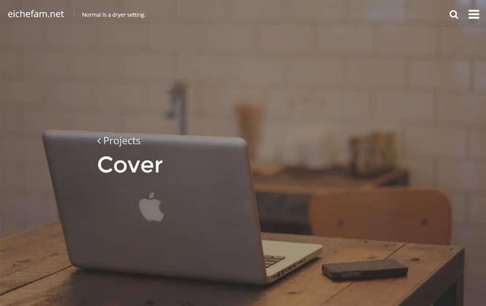 Cover content-driven blogging theme