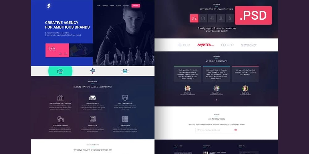 Creative Agencies Web Template PSD