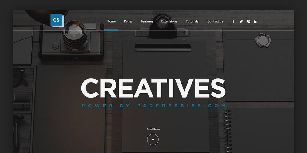 Creative Digital Agencies Webs Template PSD