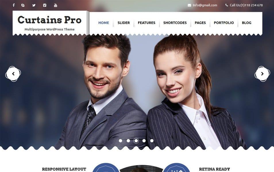 Curtains Responsive WordPress Theme