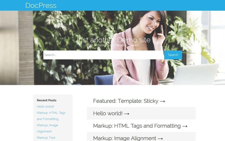 DocPress Responsive WordPress Theme