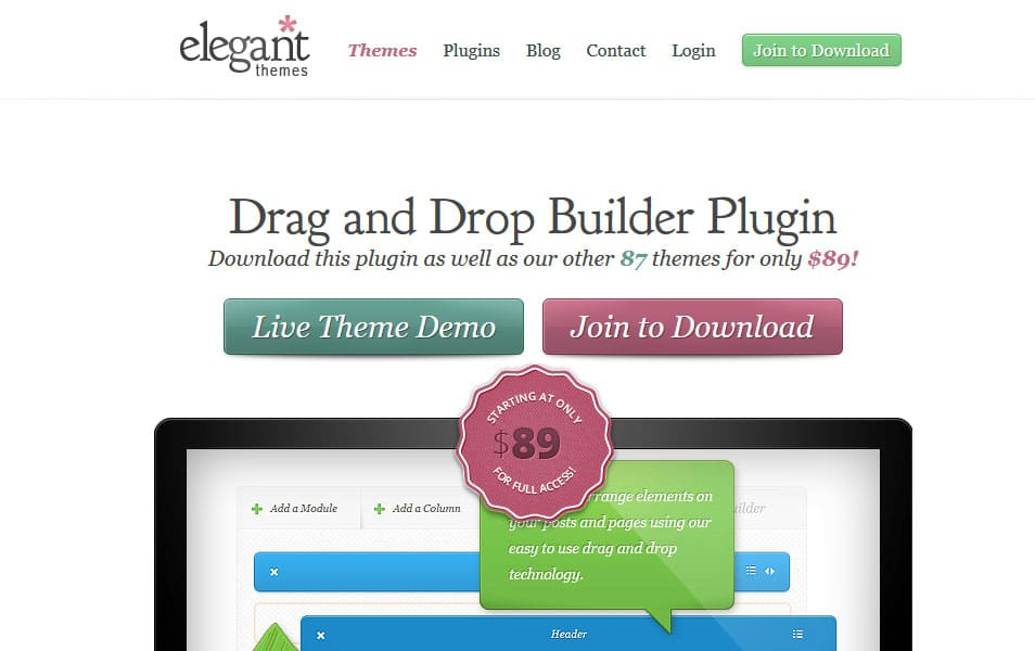 Drag and Drop Builder Plugin