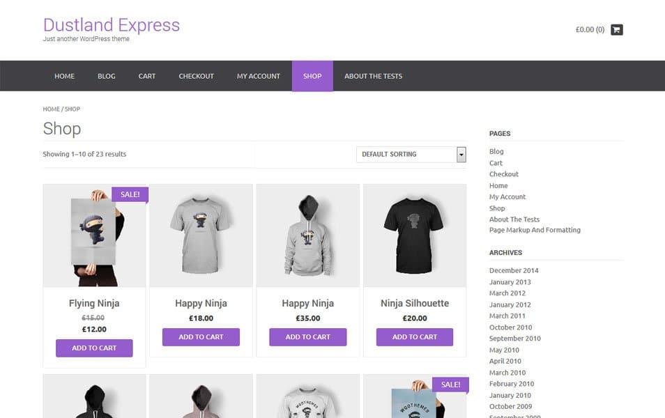 Dustland Express Responsive WordPress Theme