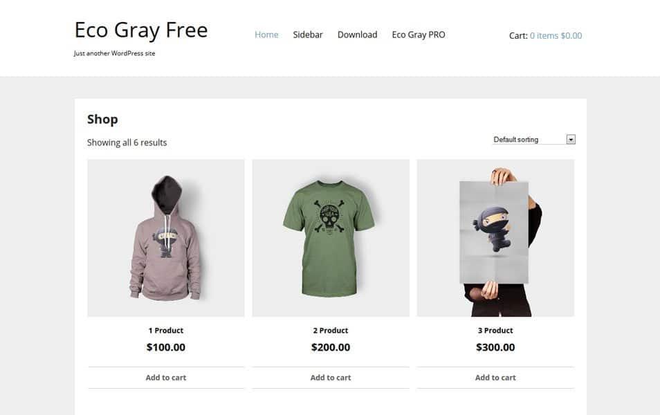 Eco Gray Responsive WordPress Theme