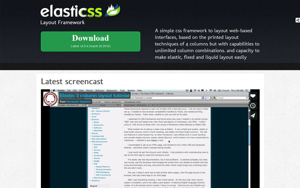Elastic CSS Framework