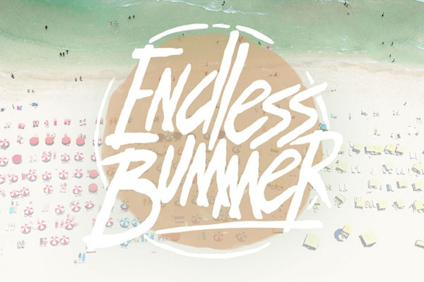 Endless Bummer - Free Hand Drawn Font