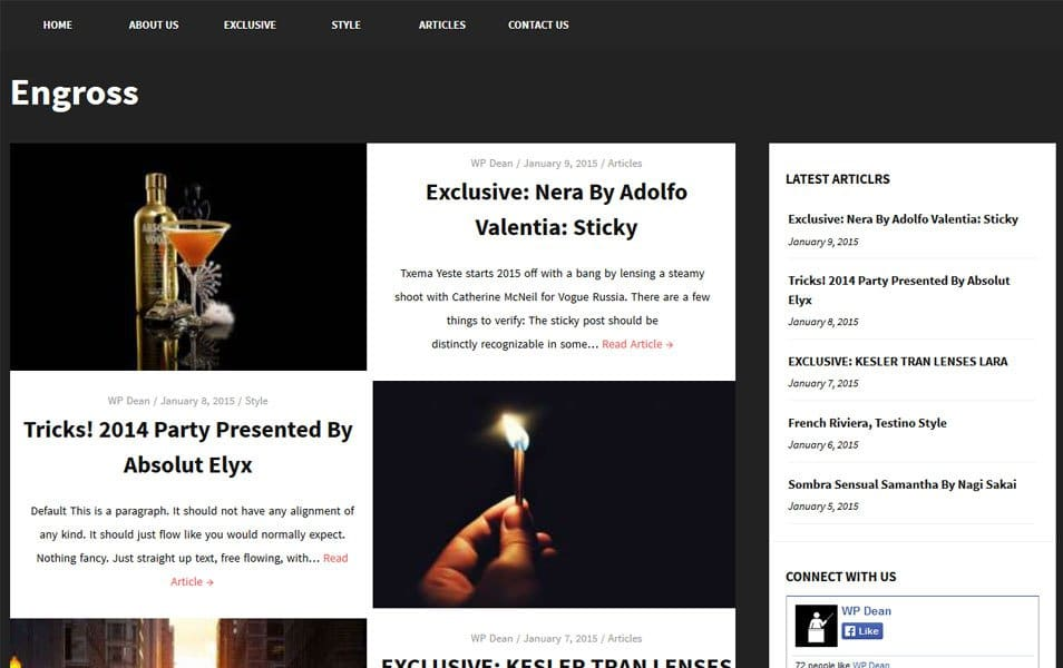 Engross Responsive WordPress Theme