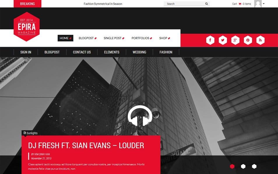 Epira Lite Responsive WordPress Theme
