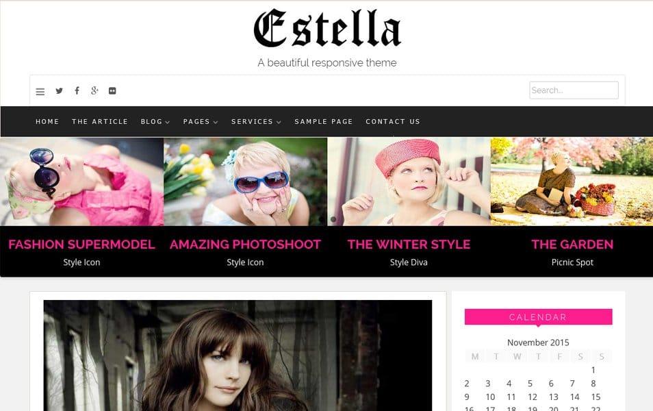 Estella Responsive WordPress Theme