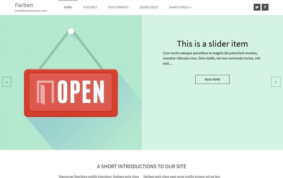 Farben Basic Responsive WordPress Theme
