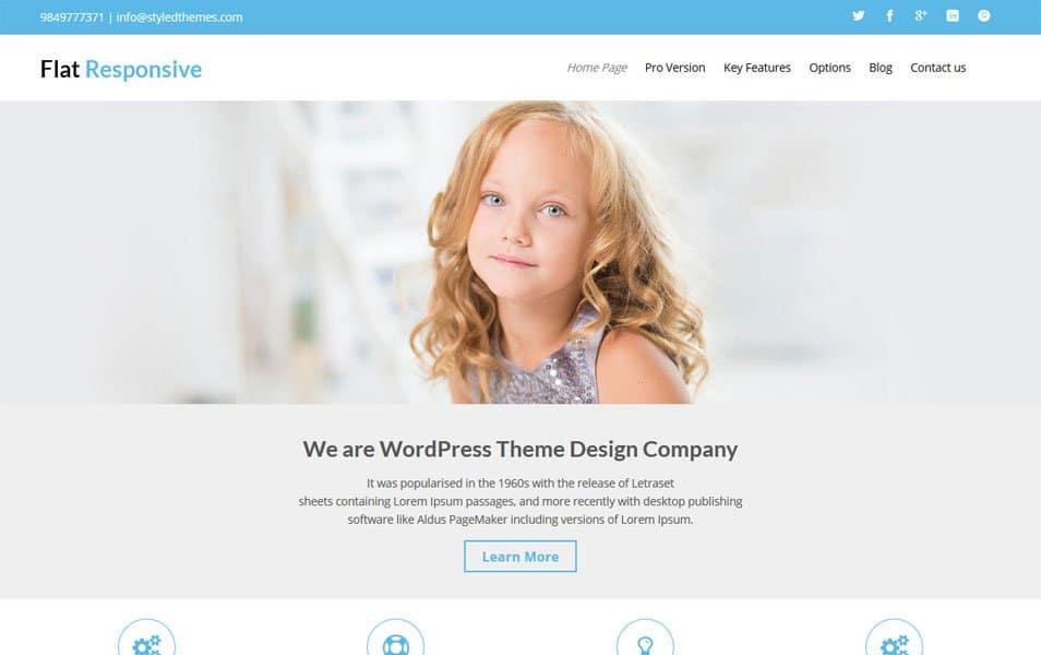 Flat Responsive WordPress Theme