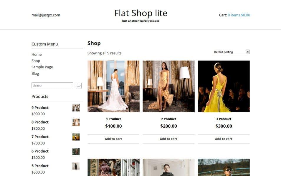 Flat Shop lite Responsive WordPress Theme