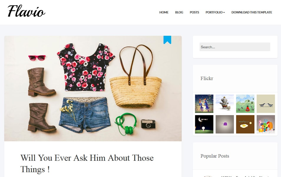 Flavio Simple Responsive Blogger Template