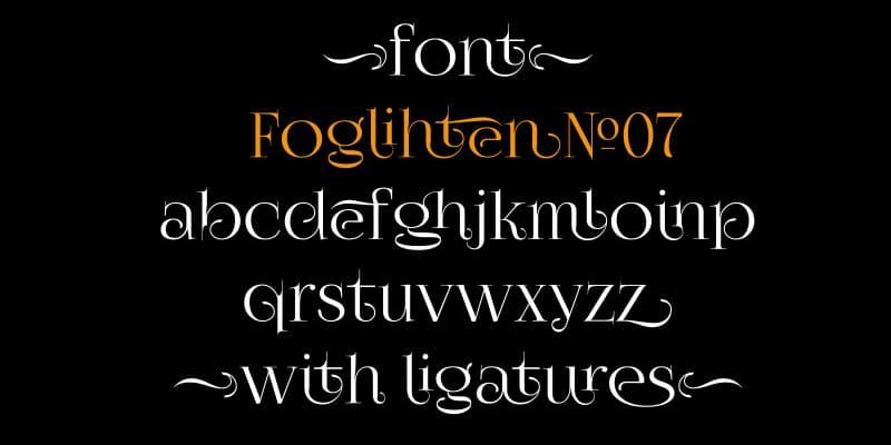 FoglihtenNo07 font