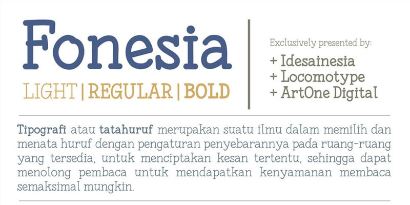 Fonesia Free Font