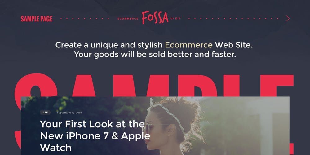 Fossa Ecommerce UI Kit PSD