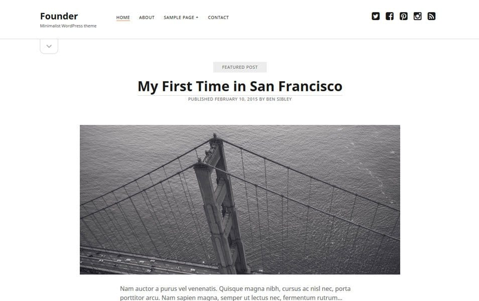 Founder Responsive WordPress Theme