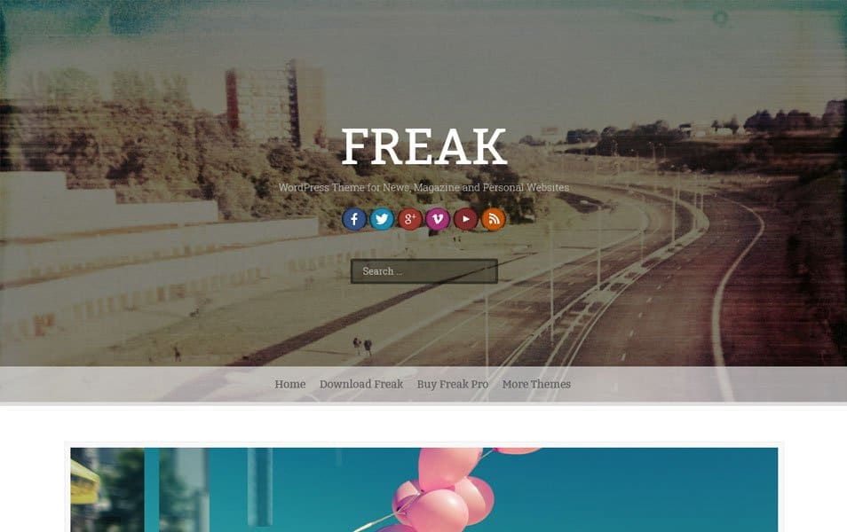 Freak Responsive WordPress Theme