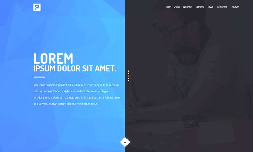 Free Agency Web Template PSD