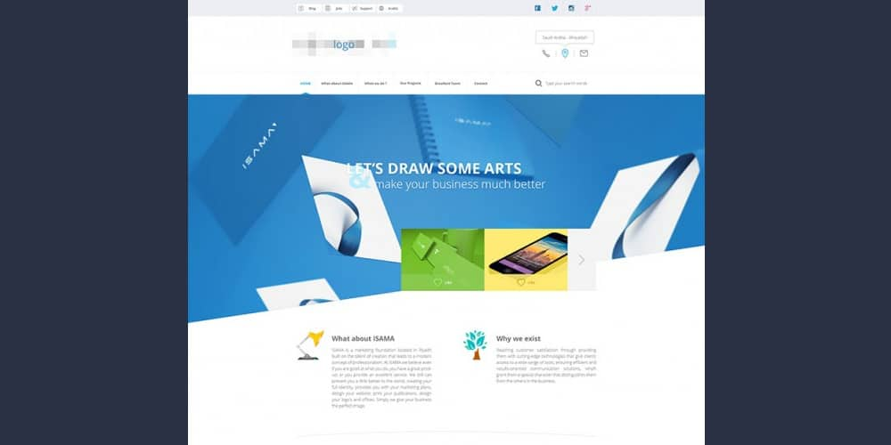 Free Agency Website Template PSD