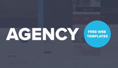 Free Agency Website Templates PSD