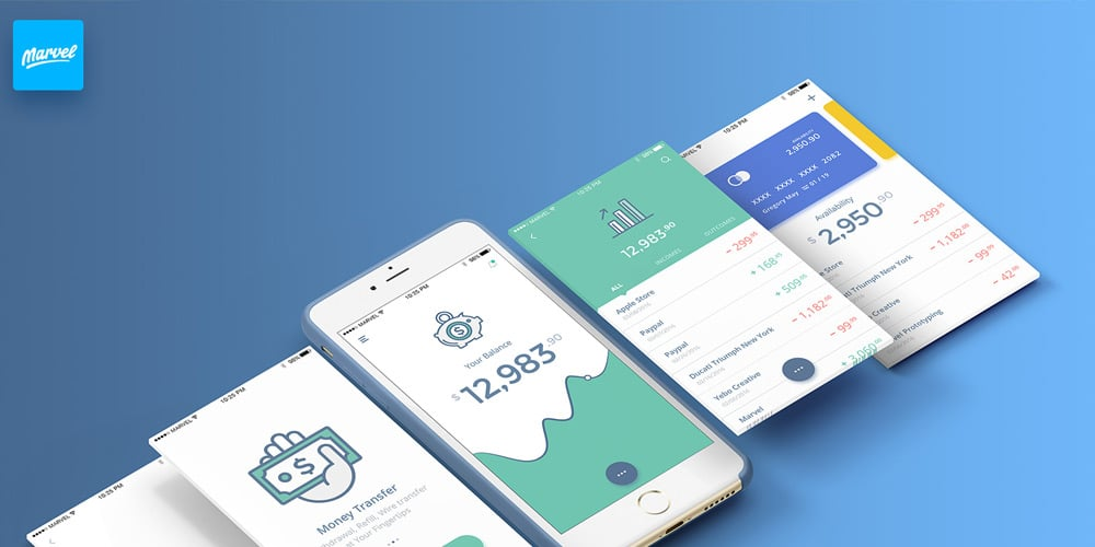 Free Banking UI Kit for Sketch
