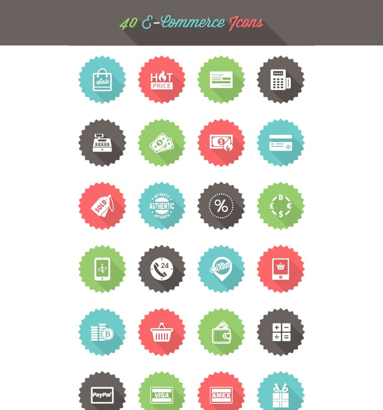 Free E Commerce Icon Set