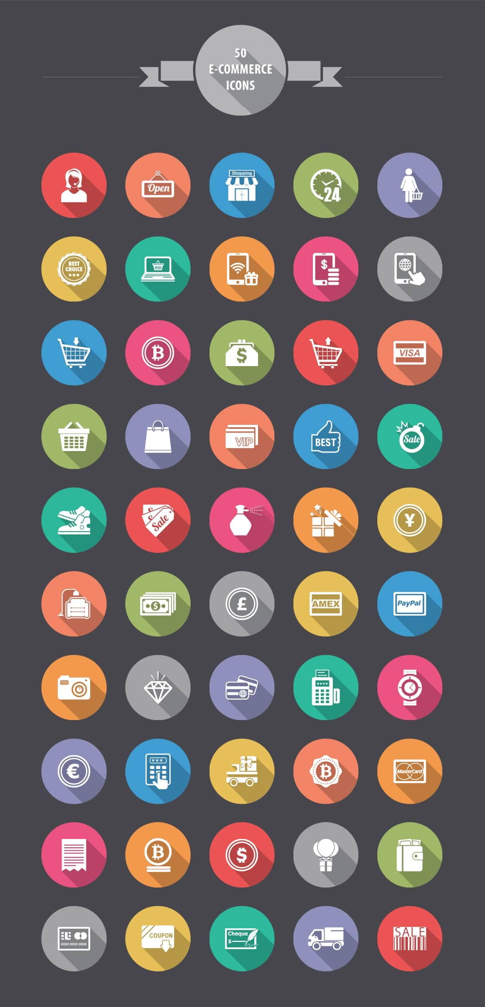 Free E commerce Shopping Icons