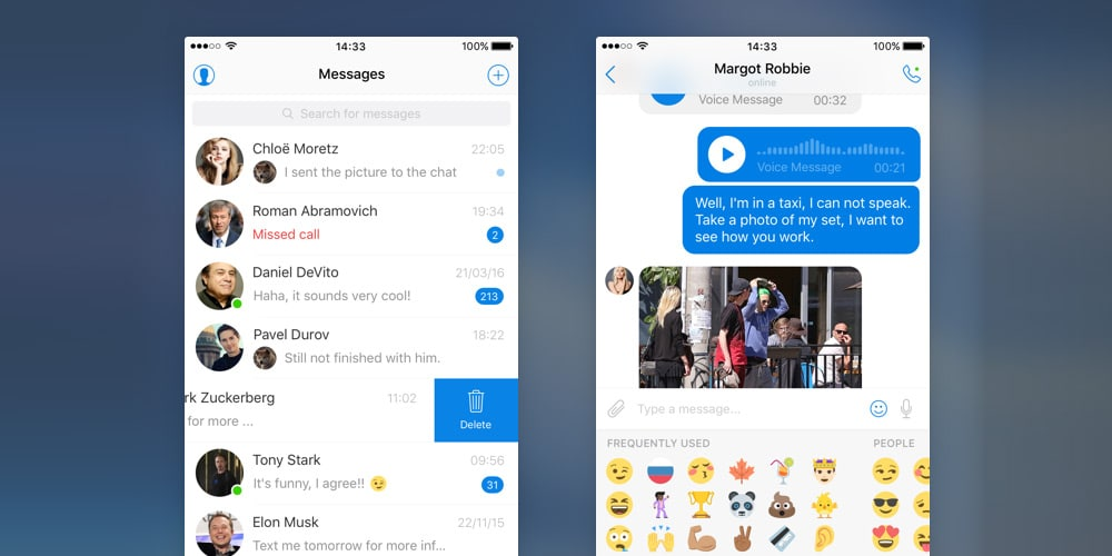 Free Messenger UI Kit for iOS
