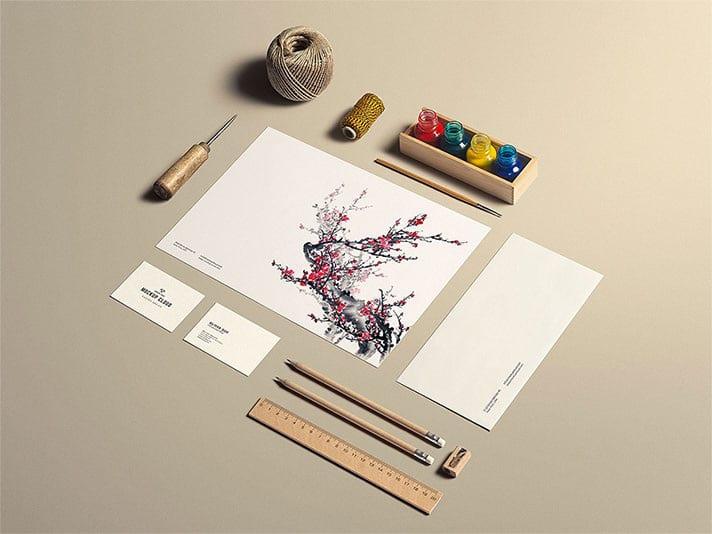 Free Stationery Mockup