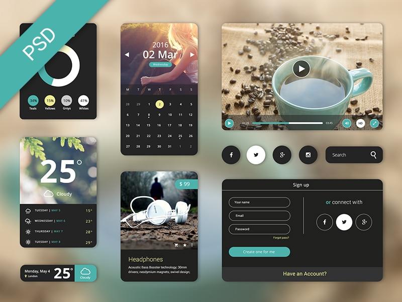 Free UI Starter Kit PSD