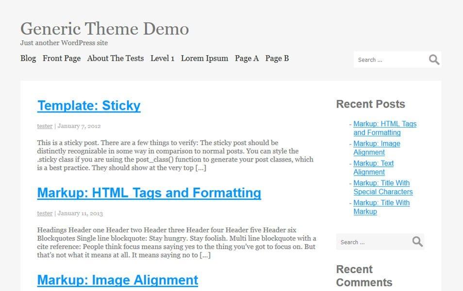 Generic Responsive WordPress Theme