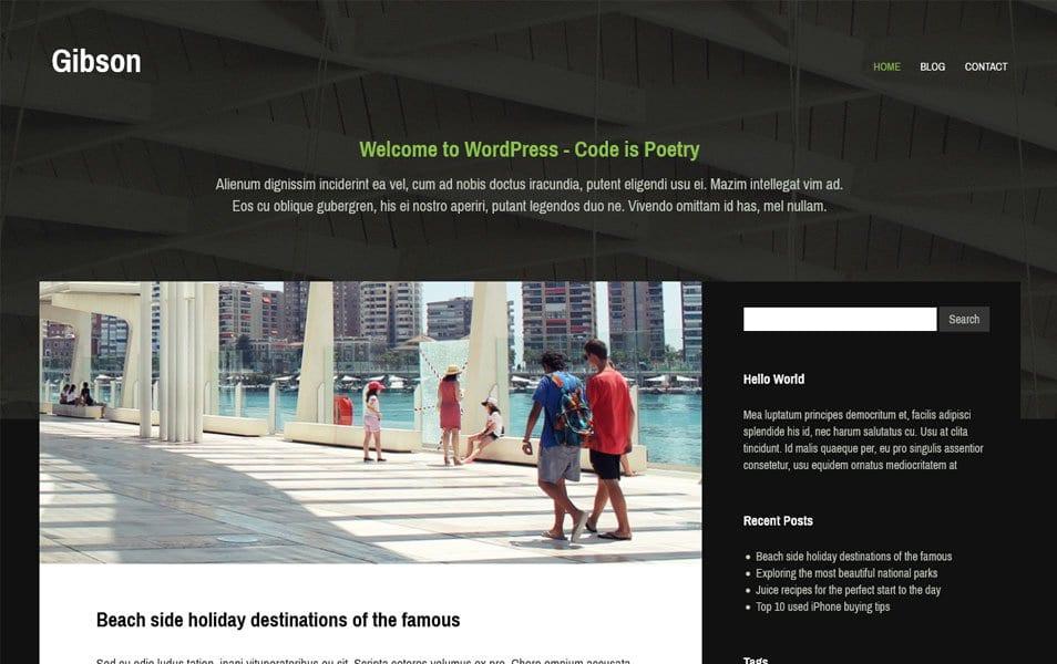 Gibson Responsive WordPress Theme