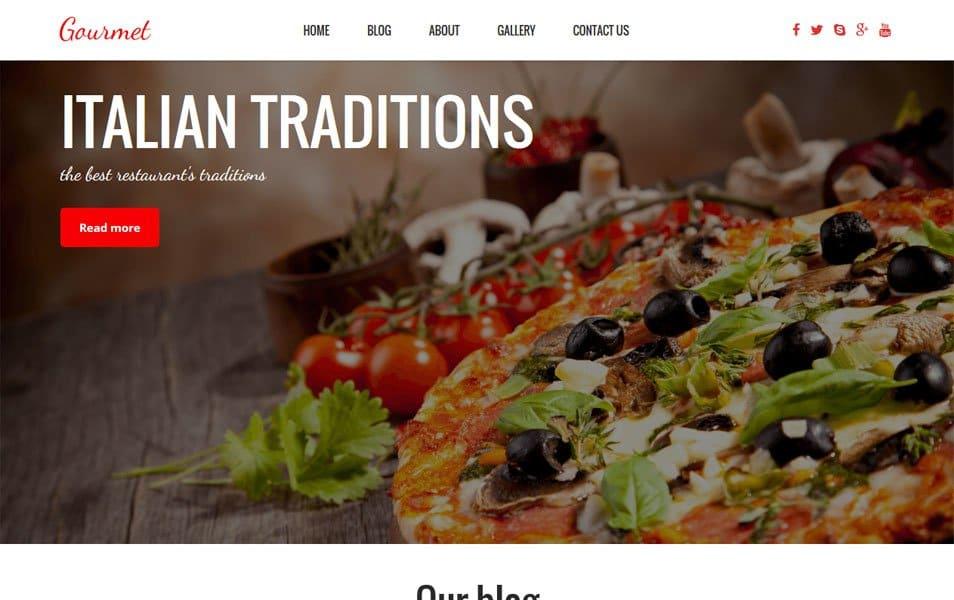 Gourmet Responsive Restaurant WordPress Theme