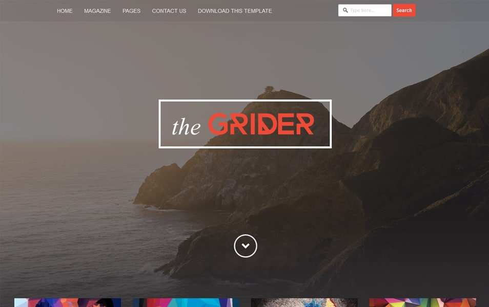 Grider Responsive Blogger Template
