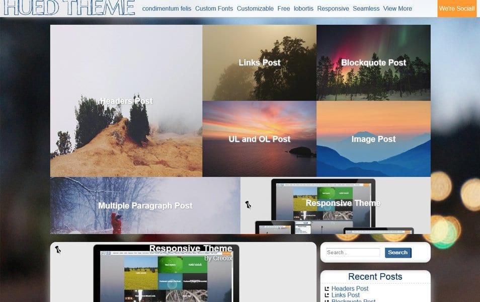 Hued Responsive WordPress Theme