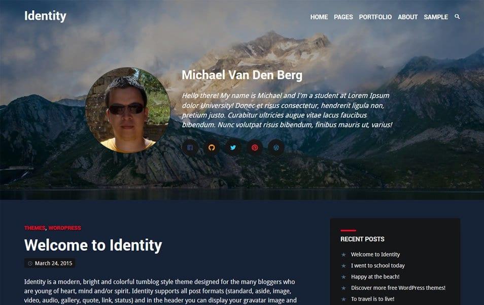 Identity Responsive WordPress Theme