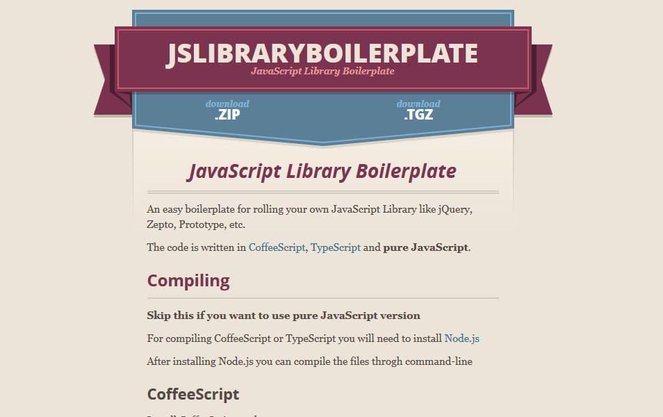 JavaScript Library Boilerplate