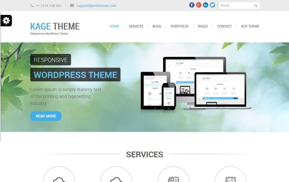 Kage Green Responsive WordPress Theme