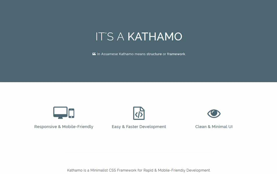 Kathamo CSS Framework