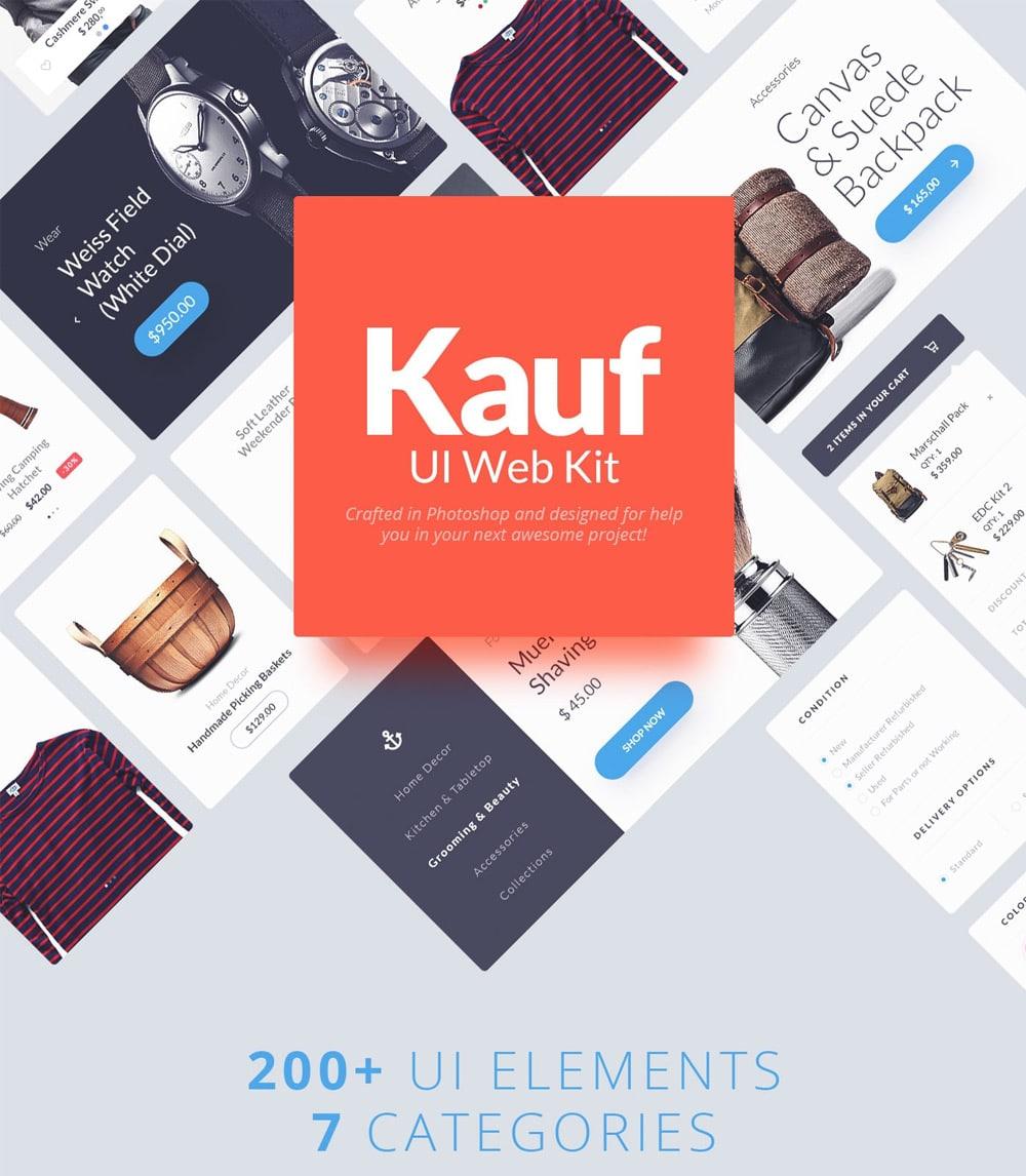 Kauf Web UI Kit PSD