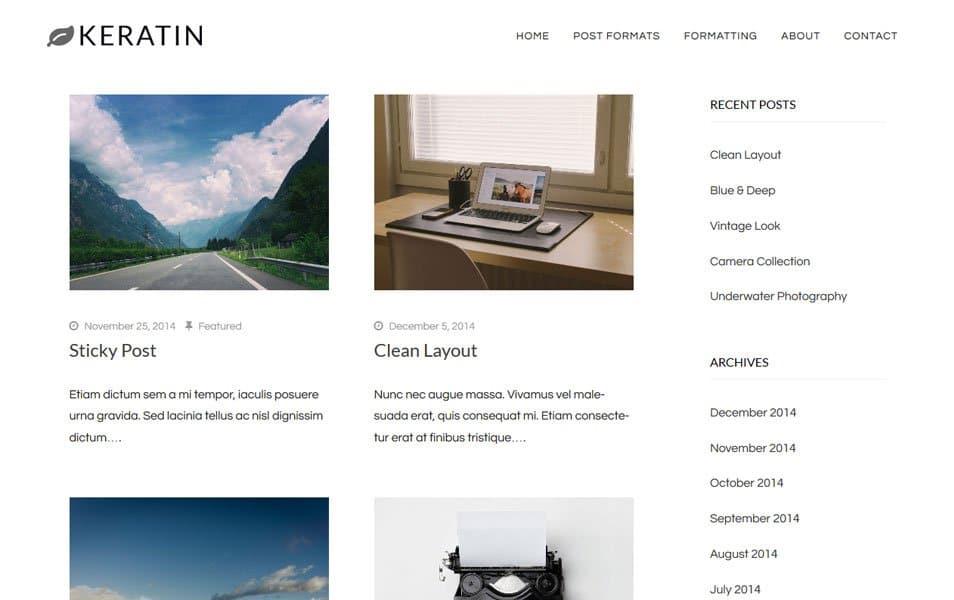 Keratin Responsive WordPress Theme