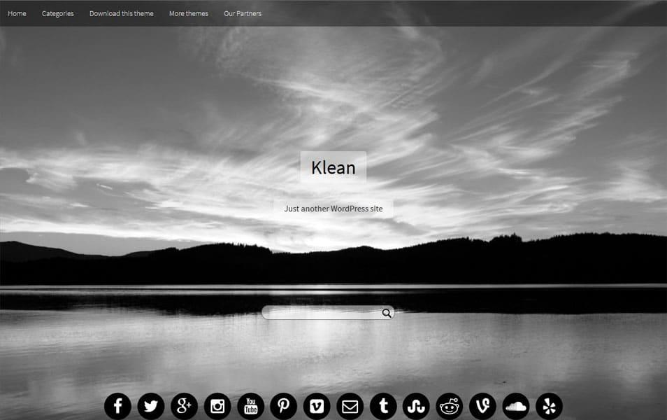 Klean Responsive WordPress Theme