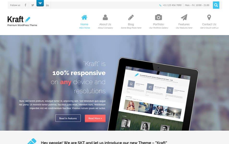 Kraft Lite Responsive WordPress Theme