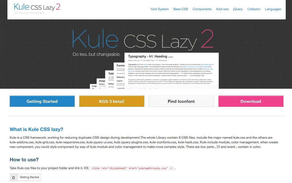 Kule CSS lazy