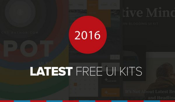 Latest Free UI Kits From 2016
