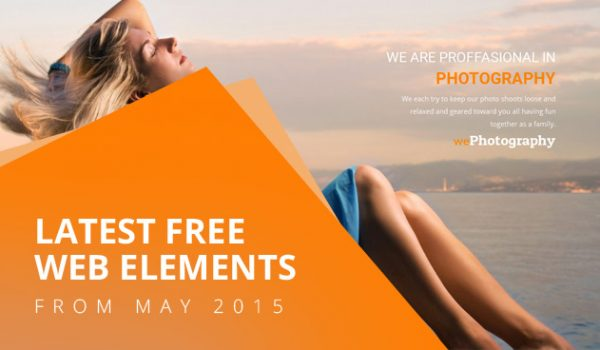Latest Free Web Elements From May 2015