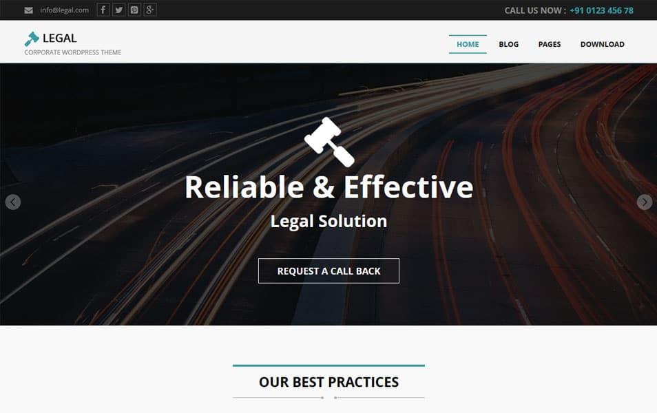 Legal Responsive WordPress Theme
