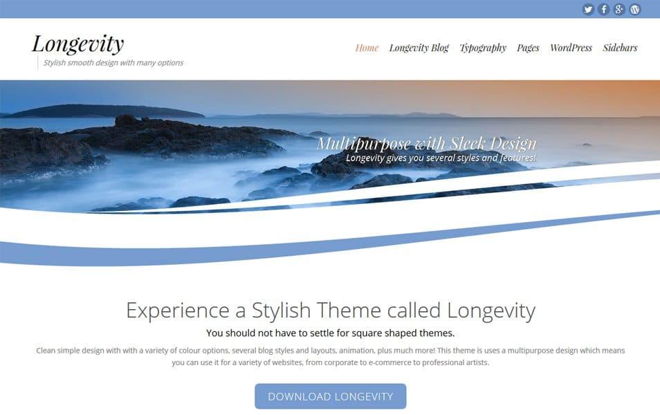 Longevity Responsive WordPress Theme