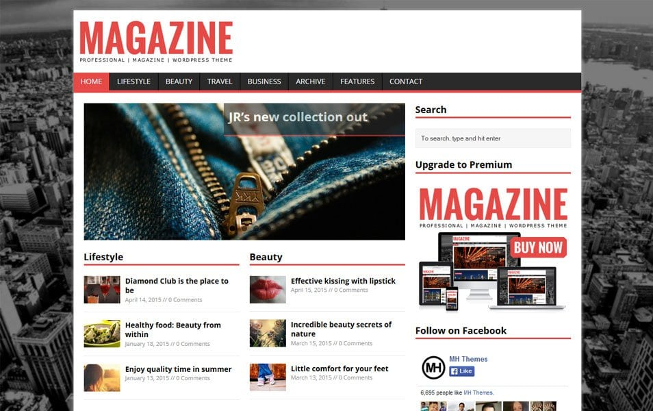 MH Magazine lite Responsive WordPress Theme